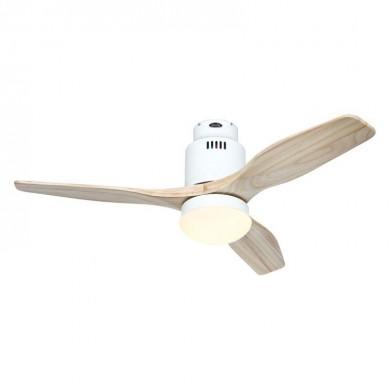 Ventilateur Plafond Aerodynamix Eco 112cm Blanc Bois naturel
