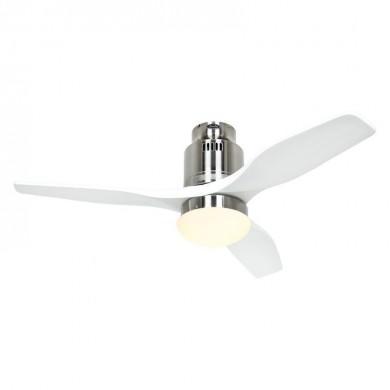 Ventilateur Plafond Aerodynamix Eco 112cm Chrome Blanc