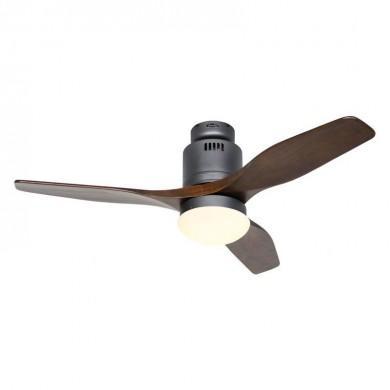 Ventilateur Plafond Aerodynamix Eco 112cm Gris basalte Noyer