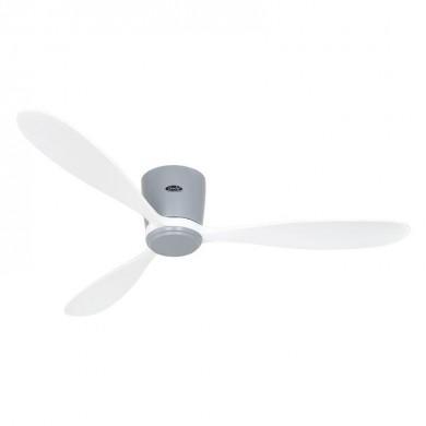Ventilateur Plafond Eco Plano Bois 132cm Gris clair Blanc