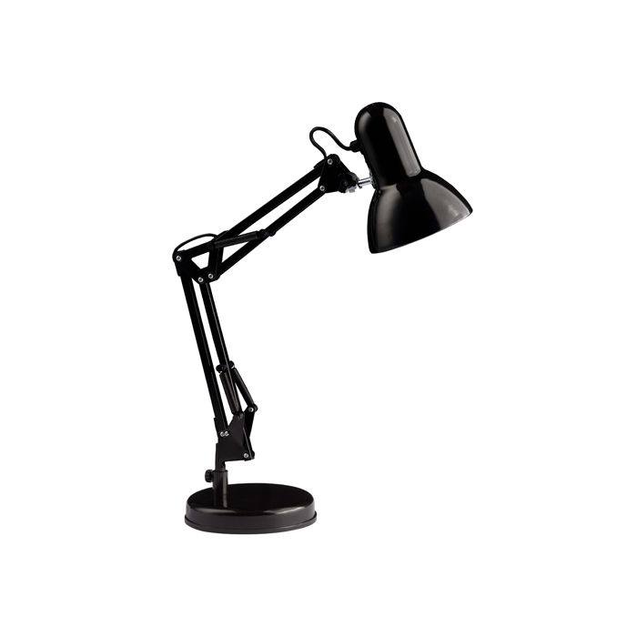 lampe de bureau style architecte henry 1x28w e27 noir de marque. Black Bedroom Furniture Sets. Home Design Ideas